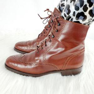 Joan & David Shoes - Joan & David Wingtip Oxford Lace Up Boots